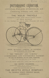 Advert for the Crypto Cycle Company, bicycles for sale